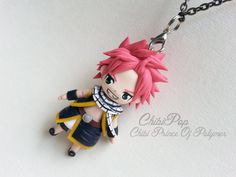 Chibi Polymer Natsu Dragneel of Fairy tail by CHIBIPOP24 on Etsy