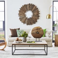 Add rustic flair to your home with the Reclaimed Wood Nomad Sunburst Mirror. A unique take on the sunburst, this mirror exudes confidence with a raw and organic feel. Craftsman House Plans, Country House Plans, Modern House Plans, Small House Plans, House Floor Plans, Reclaimed Wood Mirror, Salvaged Wood, Mirror House, Vintage Mirrors