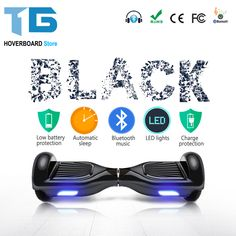 Black 6.5 Inch Smart Balance Wheel Electric Scooter Hoverboard Skateboard Standing Skate Hover Board Stock In USA Warehouse //Price: $88.19//     #shop