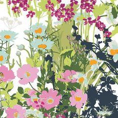 Art Gallery Fabrics - Mother's Garden Light - Lavish Collection - Katarina Roccella - By The Yard by PKFabulousFabric on Etsy