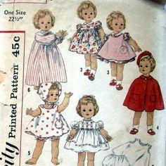 Vintage 1950s Doll Pattern