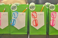 Mad scientist party favours