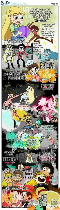 Broken {Starco Comic} - Page 26 Steven Universe, Starco Comics, Comic Starco, Jackie Lynn Thomas, Star Y Marco, First Day School, Disney Xd, Disney Ships, Disney Stuff