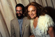 Greg Chait and Diane Von Furstenberg