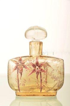 Emille Galle (French:1846-1904) enamelled scent bottle.