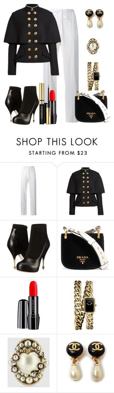 """""""Untitled #467"""" by fasttrack2fashion ❤ liked on Polyvore featuring Chloé, Burberry, Vivienne Westwood, Prada, Lancôme, Chanel and Gucci"""