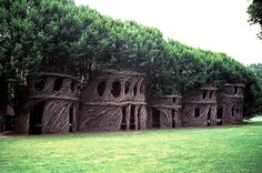 North Carolina-based sculptor Patrick Dougherty weaves dreamlike sculptures out of woods, twigs, vines, and any natural tree-derived materials…