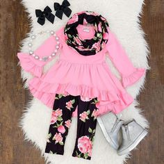 Baby & Toddler Clothing Strong-Willed New Pink Footed Pajamas & Matching Hair Band With Flower Decor Size 6-9 Months
