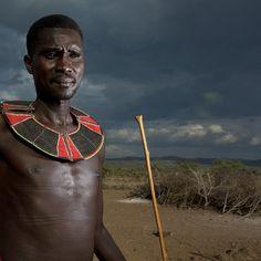 Pokot man with beaded ruff, Kenya | Flickr - Photo Sharing!