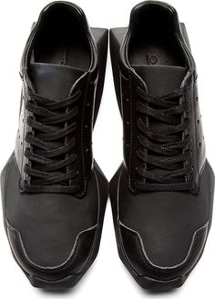 Rick Owens - Black Sculpted Sole adidas Edition Sneakers | SSENSE