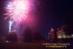 Surprise fireworks for the bride on her wedding day by her father! Taken in Roaring Gap, NC by Aesthetic Images Photography.