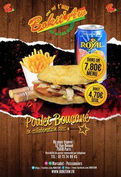 BOKITAW vous propose de découvrir le snacking de la cuisine antillaise autour d'un produit phare : le Bokit ! C'est ainsi que l'enseigne a posé ses valises au 52 rue Boinod (Paris – 18ème). Nous proposons à notre clientèle la dégustation sur place ou à emporter de bokit (sandwich au pain frit) et grand fal (sandwich au pain brioché pour les gourmands …).