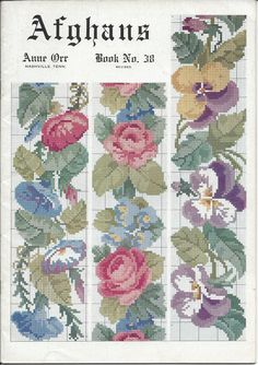 Crochê Folhas Flores Amor-Perfeito Afegãos Padrão itens decorativos Criações -  /    Crochet Leaves Flowers Pansy Afghan Pattern Decorative Items Creations -