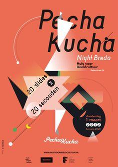 Pecha Kucha poster by staynice.  Breda, Netherlands. 2012.