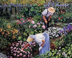 Peaceful Hours in the Garden by Susan Rios