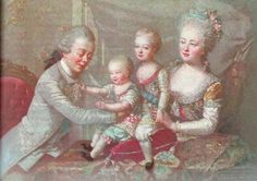 Emperor Paul with his wife Empress Maria Feodorovna and their two eldest of ten children, Constantine and Alexander. Tudor History, European History, European Style, Friedrich Ii, Maria Feodorovna, 18th Century Fashion, 19th Century, Catherine The Great, Tsar Nicholas