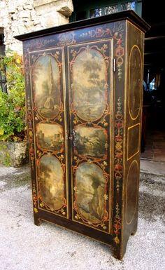 Rare 18th century Uzès cabinet / armoire
