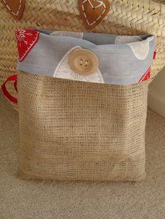 Hessian storage sack bag shabby chic hearts by Windovertide, £4.00