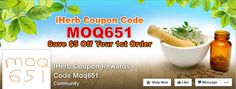 iHerb coupon code MOQ651 gets you $5 off your 1st order of natural beauty supplies at iherb.com