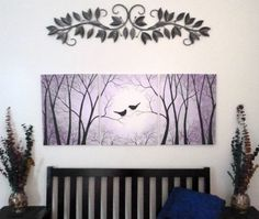 Love Birds in the Trees. Shades of Lavender and by ArtbySimplyMe