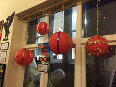 Giant christmas bauble display