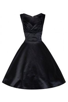 55 vintage φόρεμα black σατέν lbd