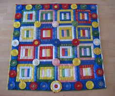 Horse show ribbon quilt! This is what I need to do with all my ribbons! !