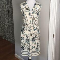LOFT sundress Adorable LOFT sundress. Lightweight rayon is perfect for summer weather! Worn only once. LOFT Dresses
