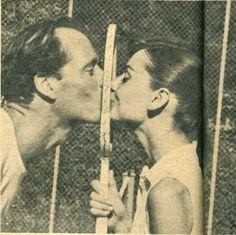 Mel Ferrer & Audrey Hepburn…*KISS*
