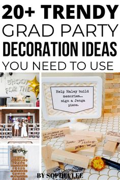 With all the crazy happening right now these are the exact graduation party decoration ideas I was looking for! Perfect for outdoor grad party ideas, trendy graduation party, and high school graduation party ideas!