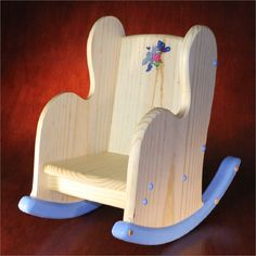 Items similar to Child's Wooden Rocking Chair – Personalized on Etsy - Diy furniture for kids