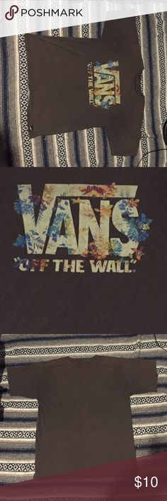 Vans tee shirt Brown vans tee shirt . It's been loved a little bit , but it's still in great condition ! No holes or stains vans  Shirts Tees - Short Sleeve