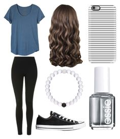 """Simple Look"" by lfrye2080 ❤ liked on Polyvore featuring RVCA, Topshop, Casetify, Converse and Essie"