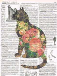 CatFlowers. Feline.Book by studioflowerpower on Etsy, $8.50