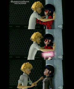 Imagen de Adrien, Chat Noir, and marinette