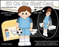 3D On The Shelf Card Kit - Little Footballer Jai