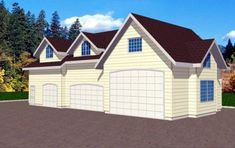 Garage Plan chp-25618 at COOLhouseplans.com