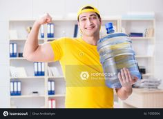 Man Delivering Water Bottle To The Office Photo