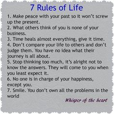 Image result for 10 rules of life