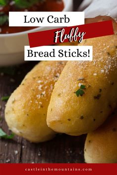 Keto Garlic Bread Sticks ~ Olive Garden Style & 3 Net Carbs