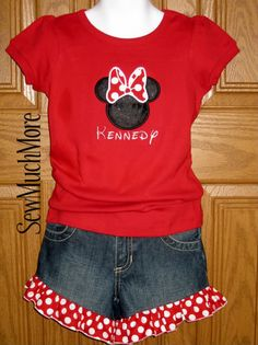 Minnie LOVE safari t-shirt jeans shorts Disney Vacation outfit Mickey Custom Personalized Applique Boutique