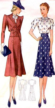 1939 dress suit,  commercial pattern archive