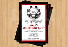 Impress your guests!    ANY Age! Wording is also completely adjustable! These fun invitations can also be made for birthdays, bachelorette party,