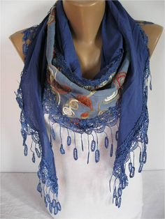Big SALE 9.90 USD   Elegant  Scarf  Cowl with Lace by MebaDesign, $9.90