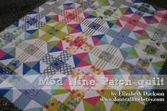 New quilt tutorial - Mod Nine Patch quilt!