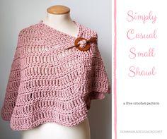 Simply Casual Small Shawl Free Pattern Oombawka Design