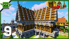 minecraft kingdom village build easy 5x5 buildings medieval hall town texture led survival machine