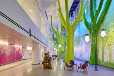 environmental graphics in kids hospital