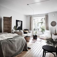 Cozy studio apartment | styling by @annafurbacken & photo by @fotografanders for @entrancemakleri