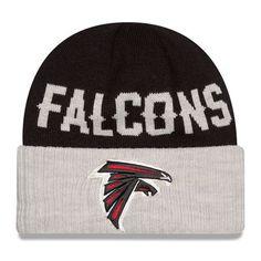 Atlanta Falcons New Era Classic Cover Cuffed Knit Hat - Black/Heather Gray